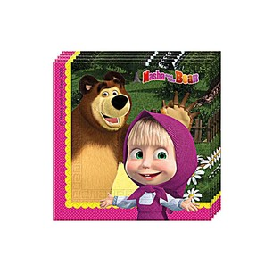 BALONEVİ - BALON EVİ MASHA AND THE BEAR KAĞIT PEÇETE 33x33 cm