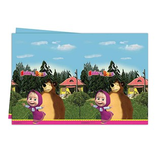 BALONEVİ - BALON EVİ MASHA AND THE BEAR MASA ÖRTÜSÜ 120x180 c