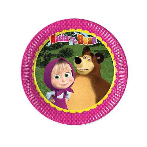 BALON EVİ MASHA AND THE BEAR TABAK 23 CM (8AD)
