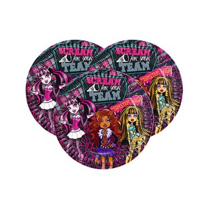 BALONEVİ - BALON EVİ MONSTER HIGH KLASİK LİSANSLI TABAK 23 CM