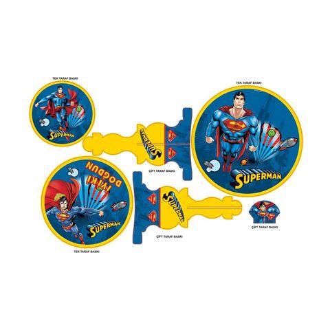 BALON EVİ SUPERMAN CUPCAKE STANDI