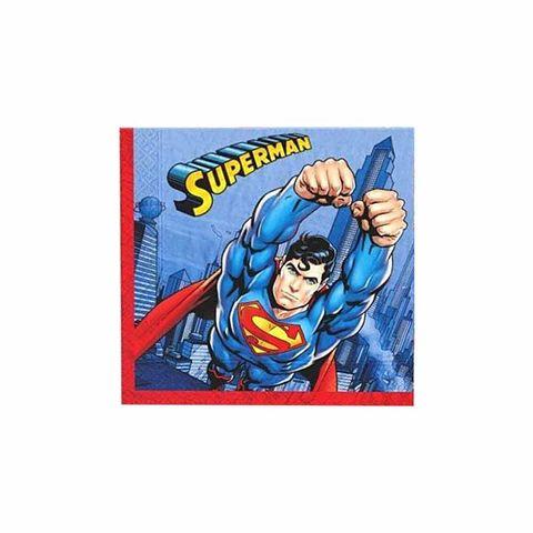 BALON EVİ SUPERMAN KAĞIT PEÇETE 33x33 (16 AD)