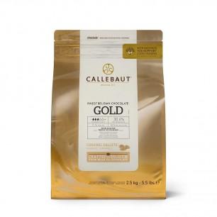 CALLEBAUT - CALLEBAUT BEYAZ ÇİKOLATA KARAMEL GOLD 2.5 KG