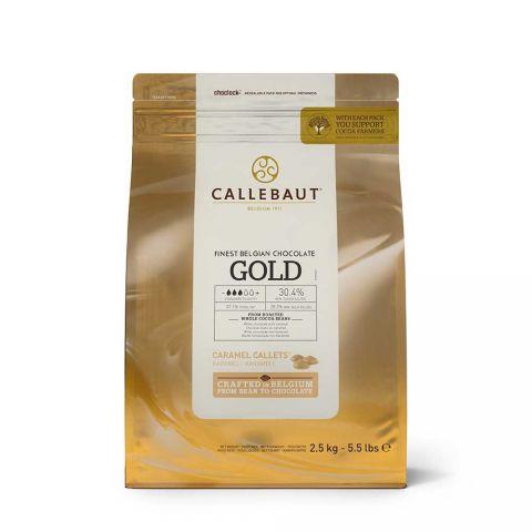 CALLEBAUT BEYAZ ÇİKOLATA KARAMEL GOLD 2.5 KG