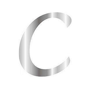 CESİL - CESİL PLEKSİ ÇUBUKSUZ ALFABE 6 CM / GÜMÜŞ - C