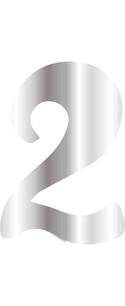 CESİL - CESİL PLEKSİ ÇUBUKSUZ RAKAM 6 CM GÜMÜŞ - 2