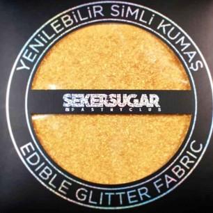 ŞEKER&SUGAR - YENİLEBİLİR SİMLİ KUMAŞ 15*15 SARI